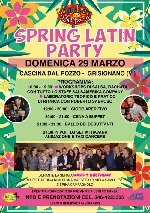 Spring Latin Party - L'evento latino danzante di primavera